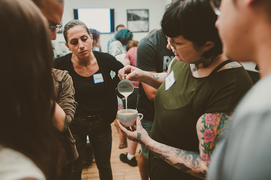 SCA Coffee Training Latte Art