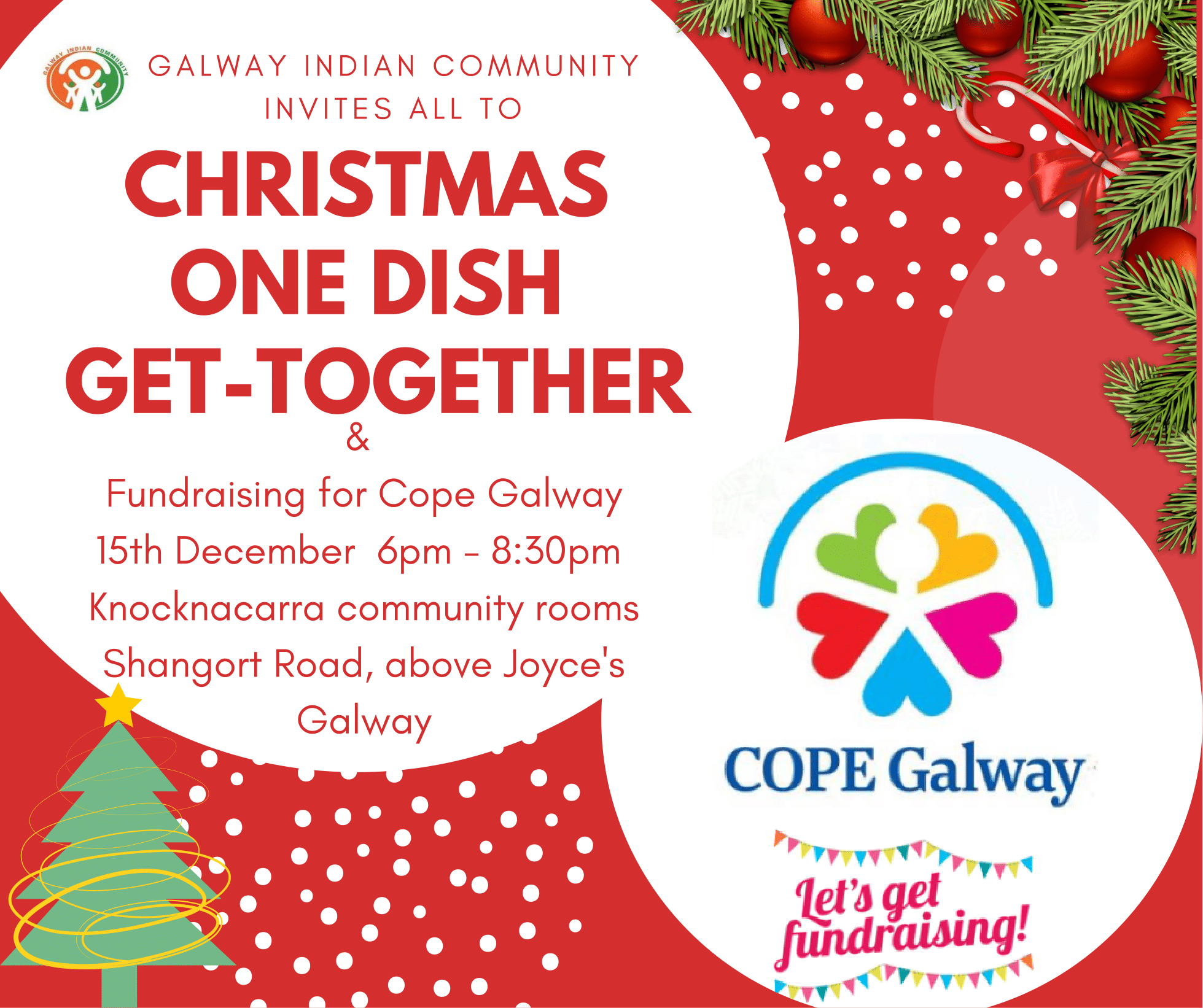 Christmas One Dish Get Together (Potluck), Indian Community Galway ...