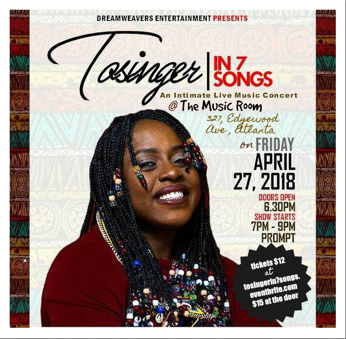 Tosinger in 7 Songs at the Music Room April 7