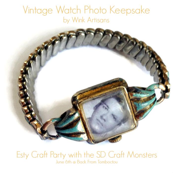 Vintage Watch Photo Keepsake