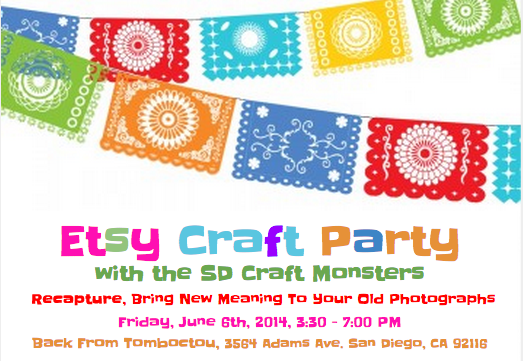 Etsy Craft Party with the SD Craft Monsters