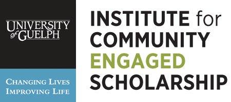 logo for the Institute for Community Engaged Scholarship and the University of Guelph