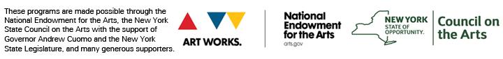 NEA, NYSCA, and DEA logos