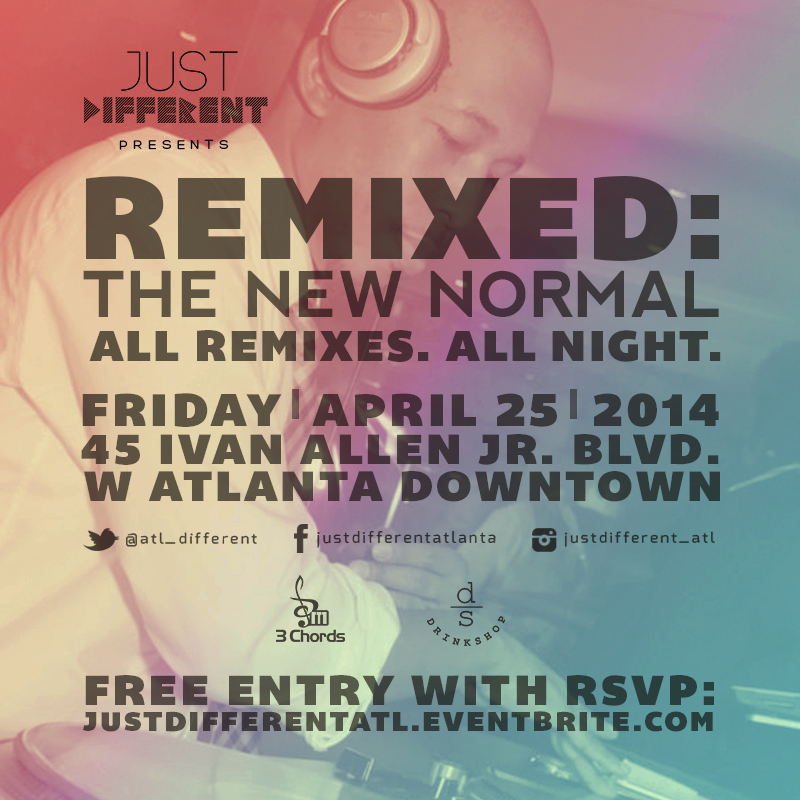 Official invitation. Just Different Presents: Remixed - The New Normal