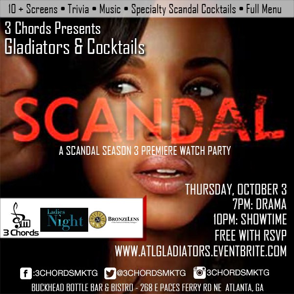 Scandal Premiere Party Oct 3rd