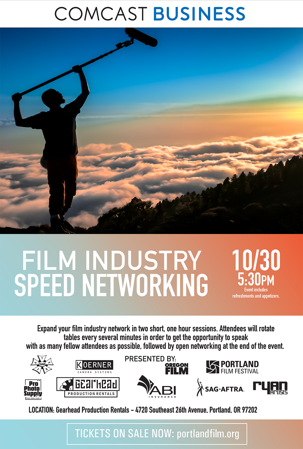 Elegant 2017 Portland Film Industry Speed Networking Event