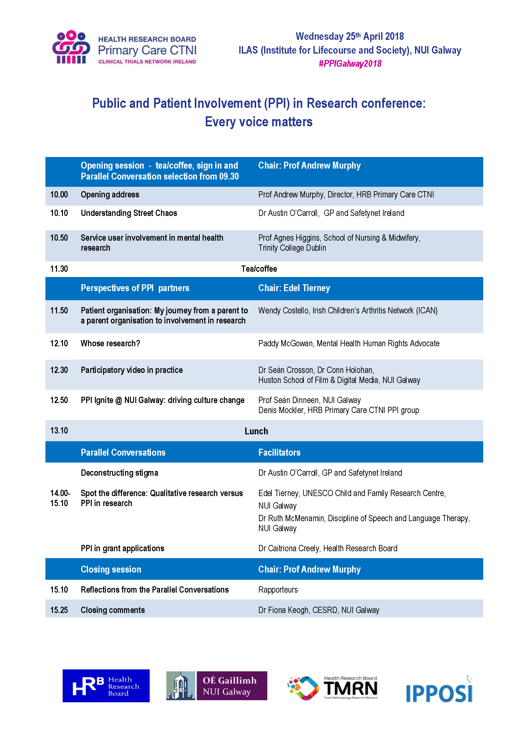 PPI conference programme