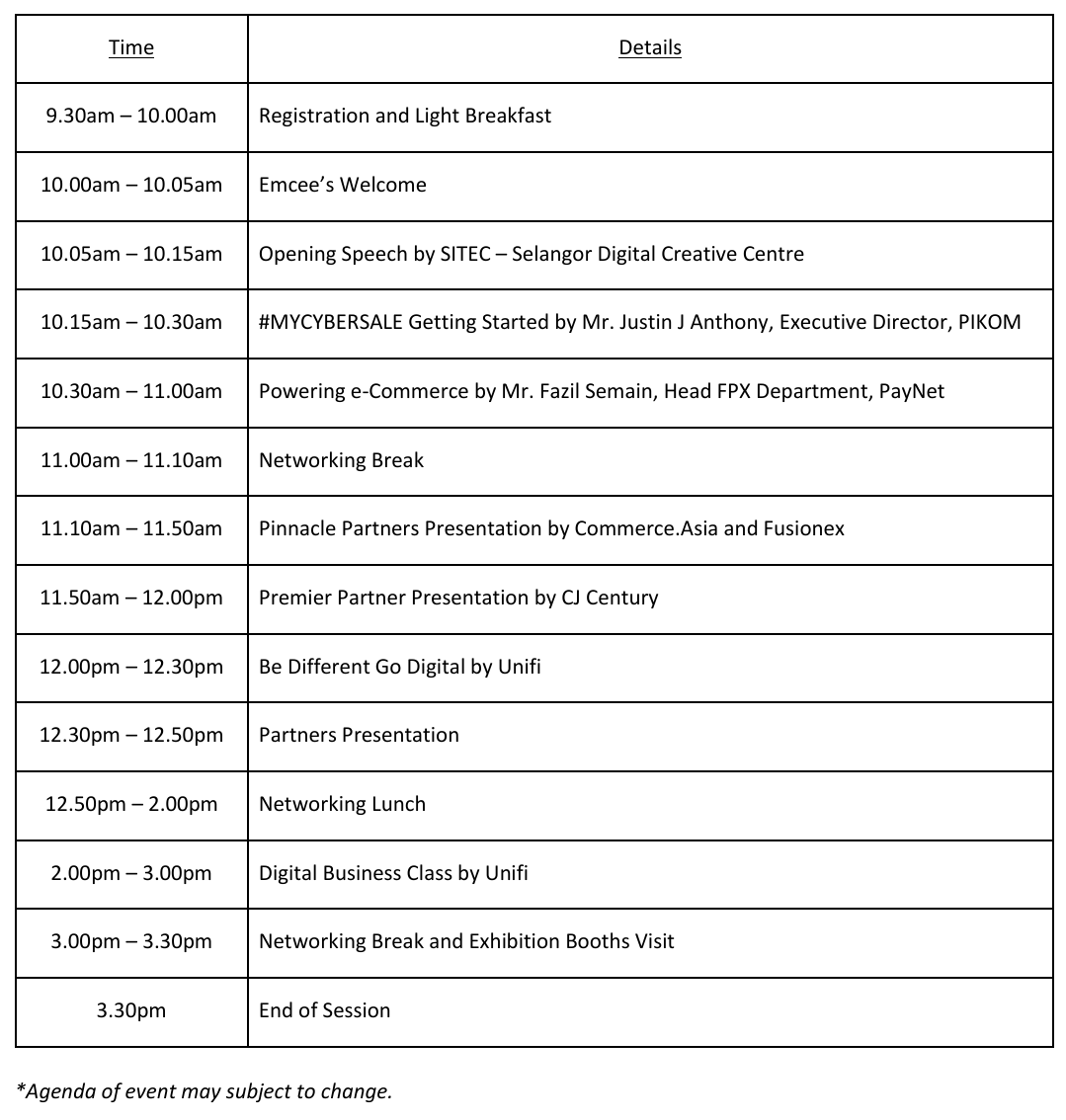 #MCS2019_Agenda SITEC