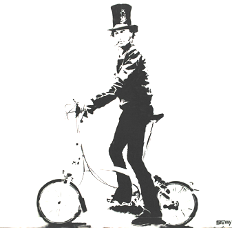 Brunel on a bike picture