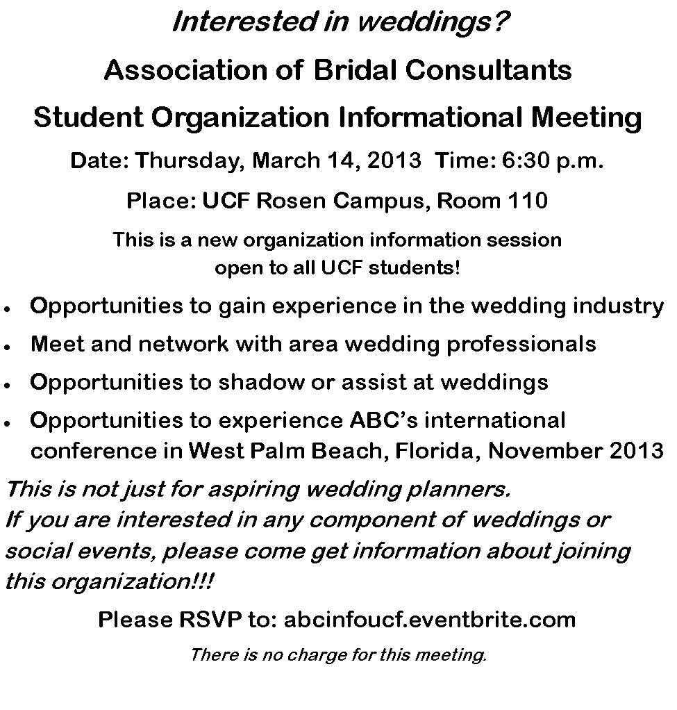 ABC Student Informational Meeting March