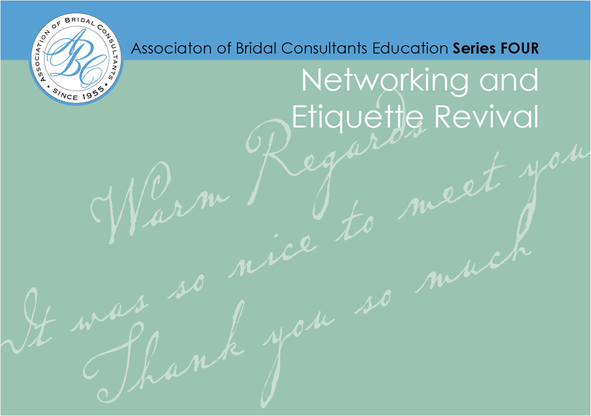 Networking and Etiquette Revival