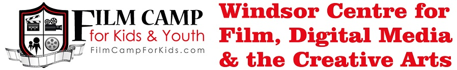 Windsor Centre for Film, Digital Media and Creative Arts and Film Camp for Kids logos