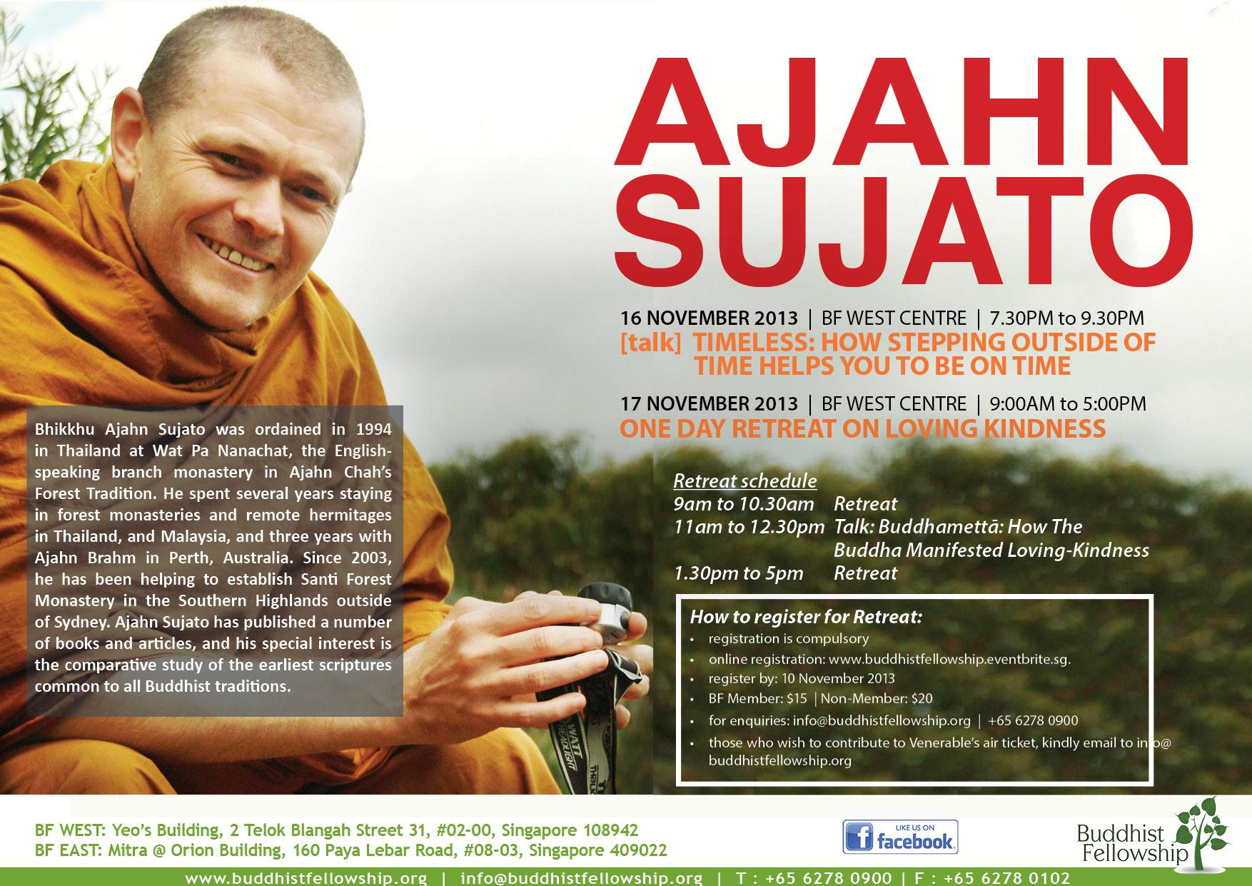Ajahn Sujato Dhamma Talk at BF