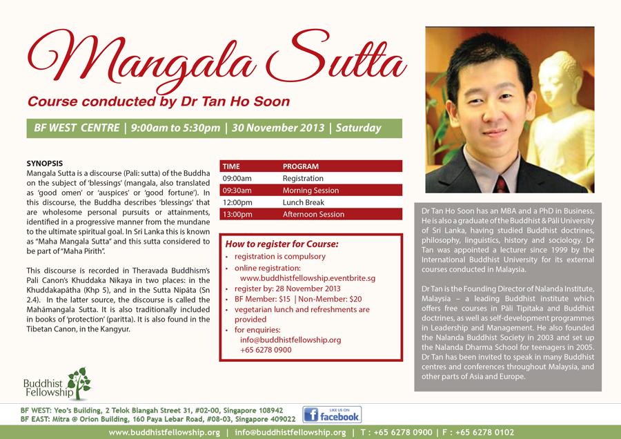 Dr Tan Ho Soon at Buddhist Fellowship