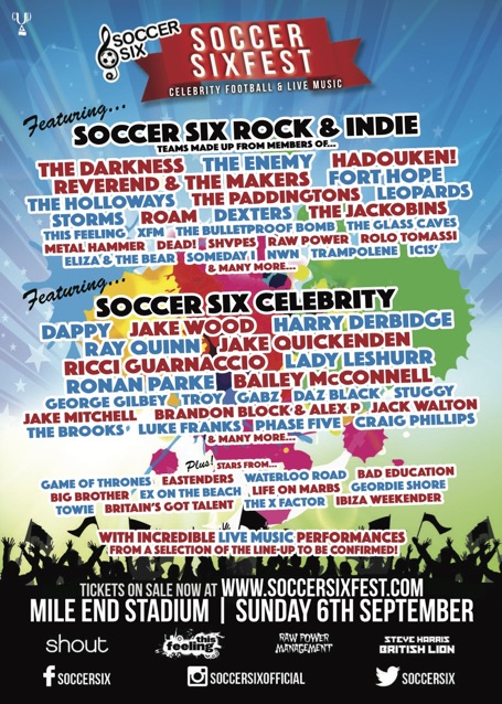 Soccer SixFest Line-up