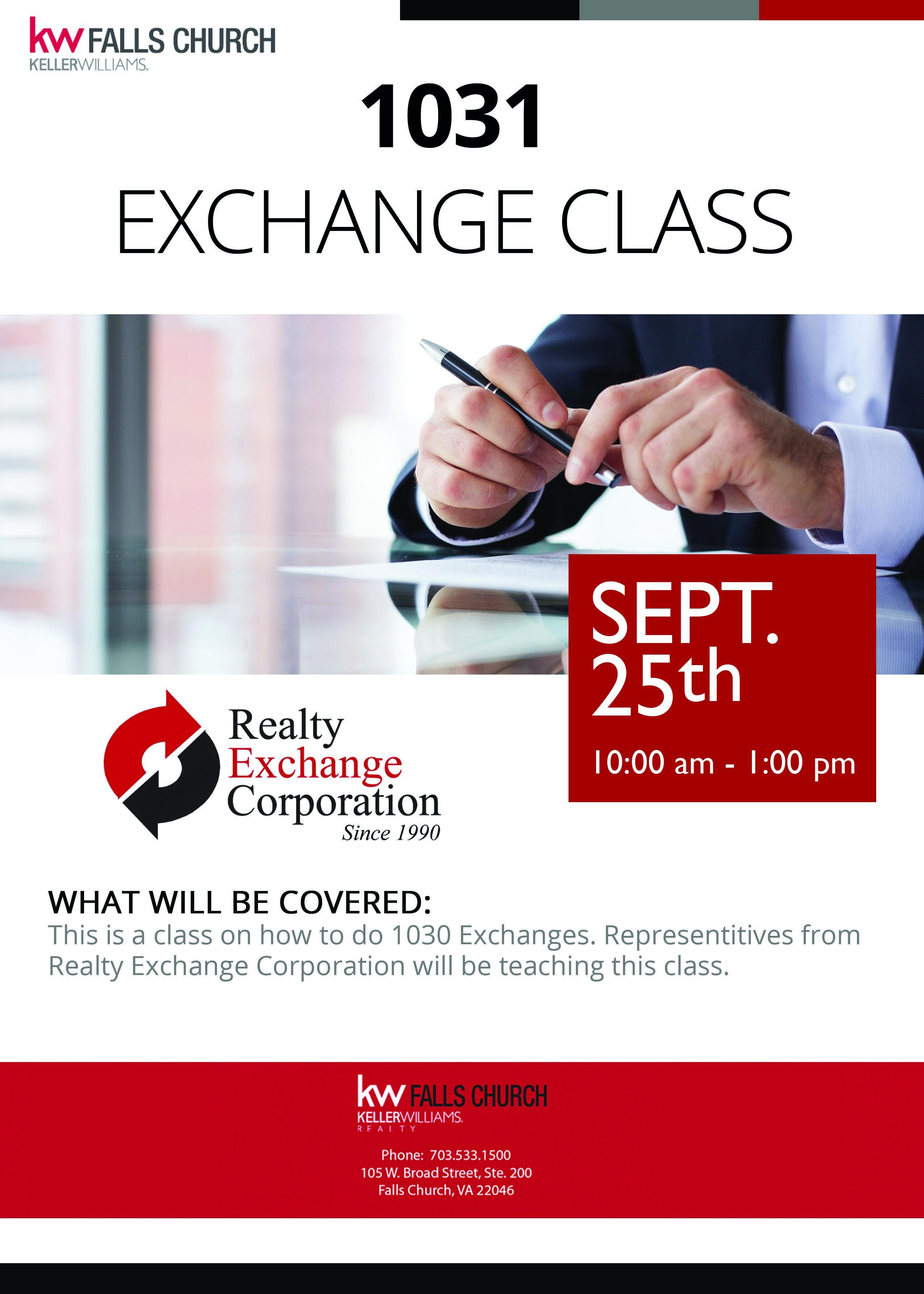 1031 Exchange Class Flyer