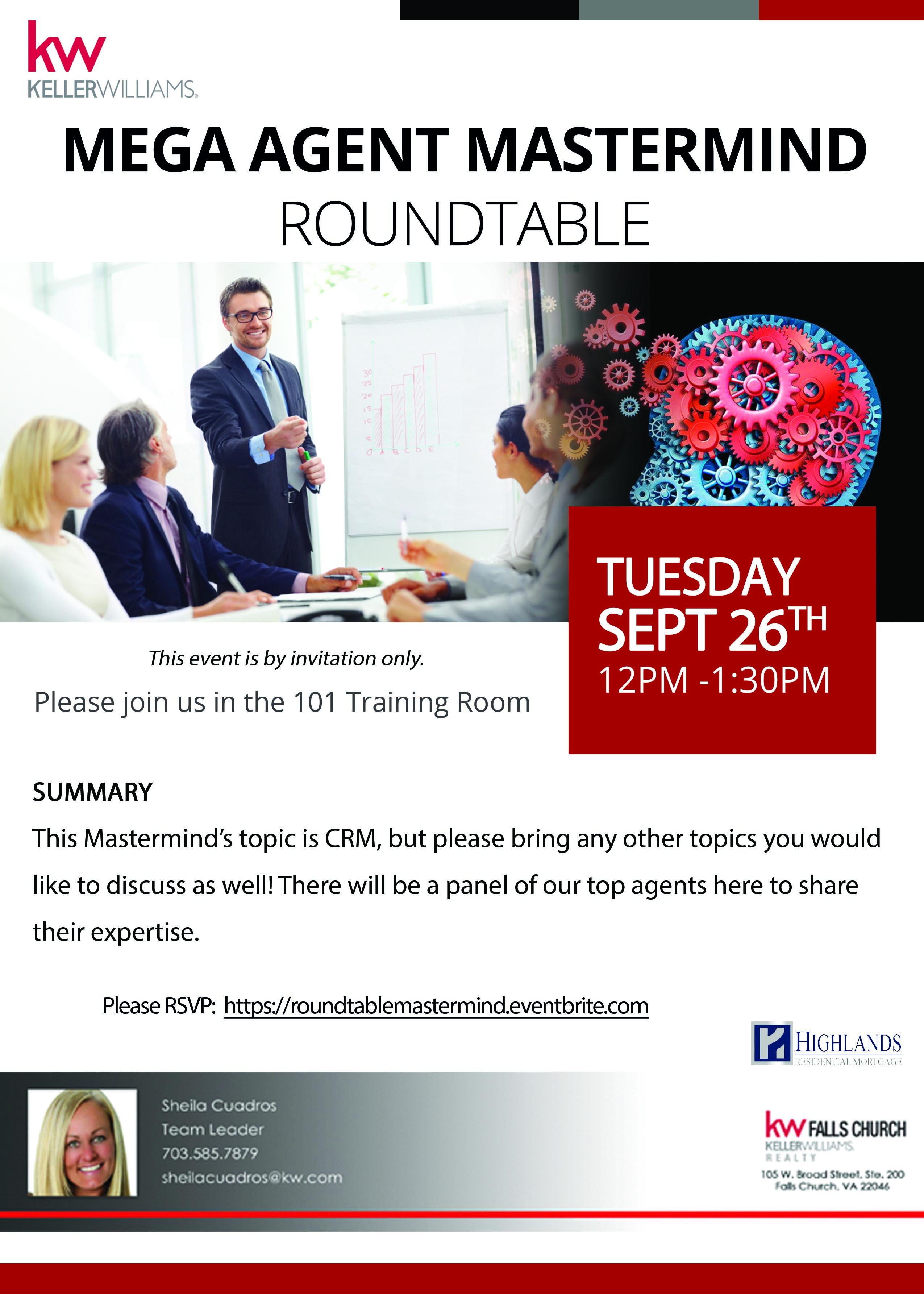 Mega Agent Round Table Flyer