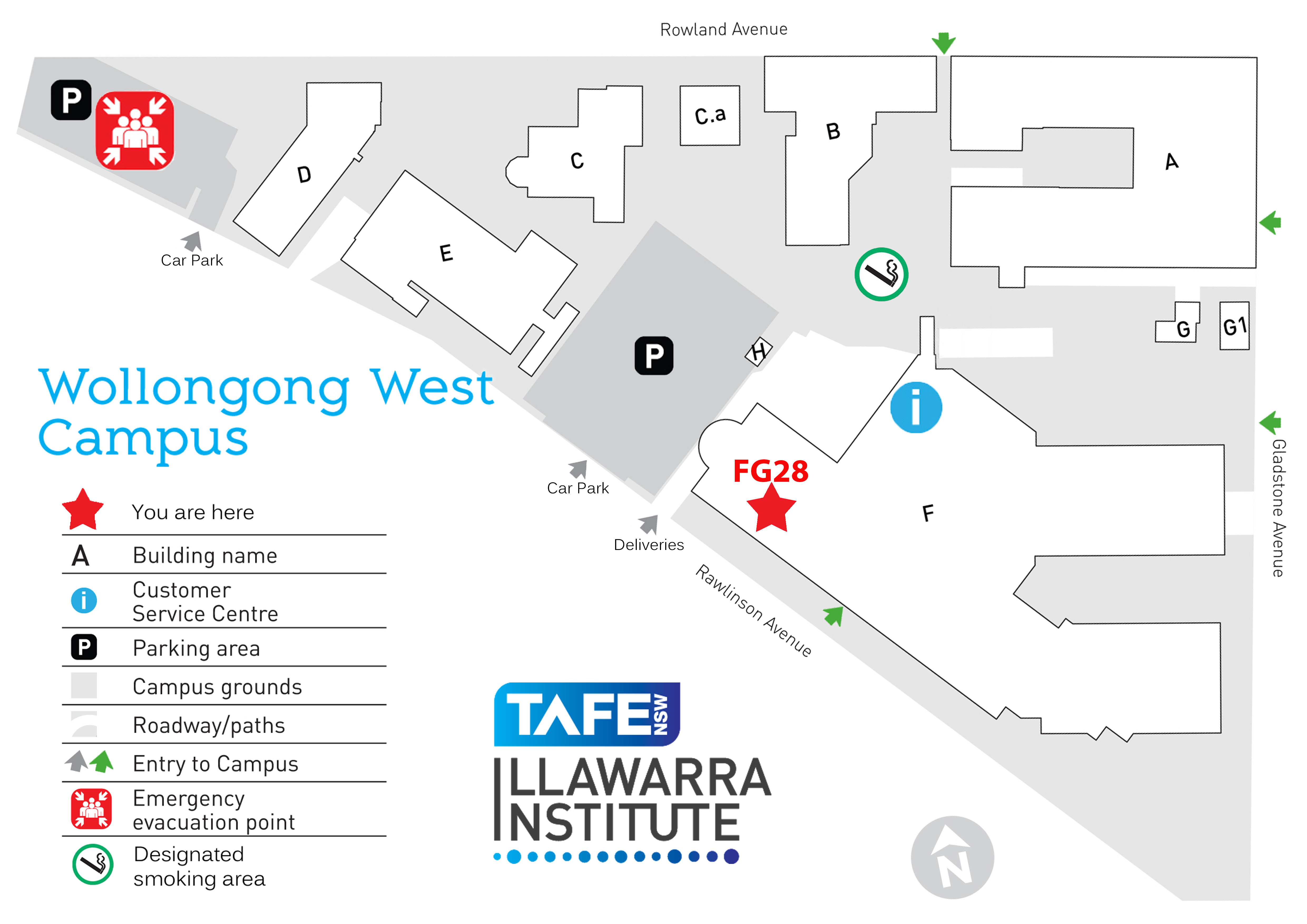 Illawarra Digital Enterprise Program - TAFE Illawarra Campus Map