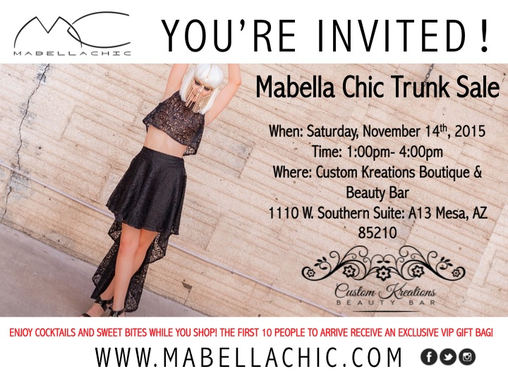 Mabella Chic Trunk Sale