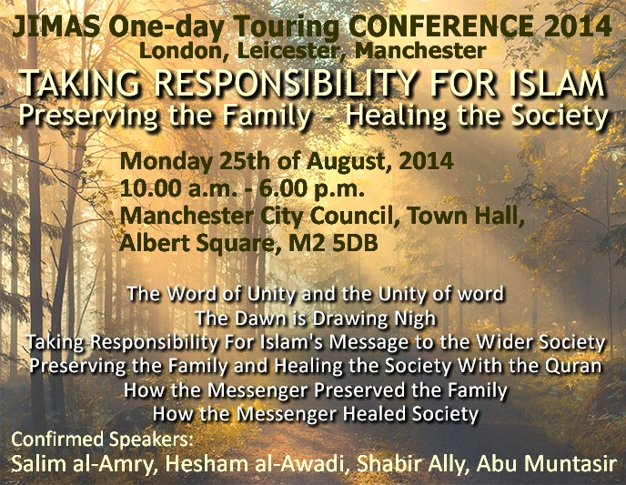 JIMAS 1-day CONFERENCE: Manchester 25/08/14