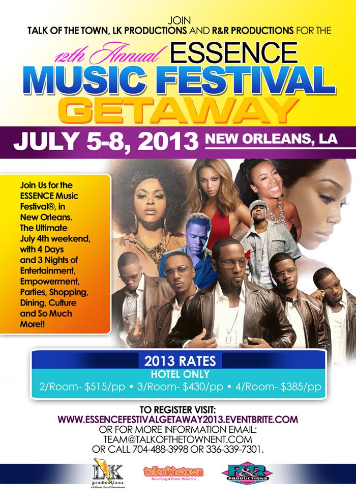 Essence Festival Getaway 2013