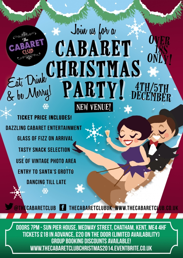 Cabaret Club Christmas Party Flyer 2014