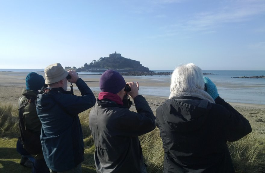 Marazion Marsh Bird Watchers by Dave Flumm