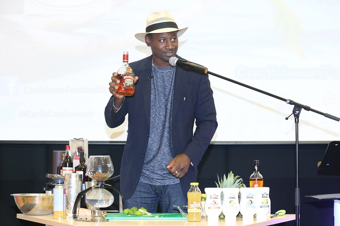 Rum Ambassador Ian Burrell doing his thing