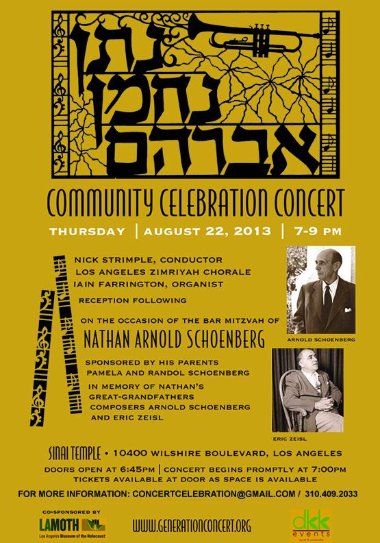 Concert Celebration Schoenberg