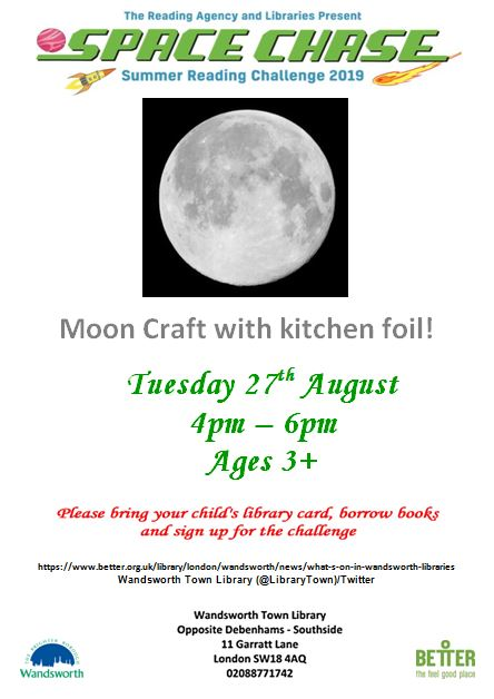 Moon craft with foil