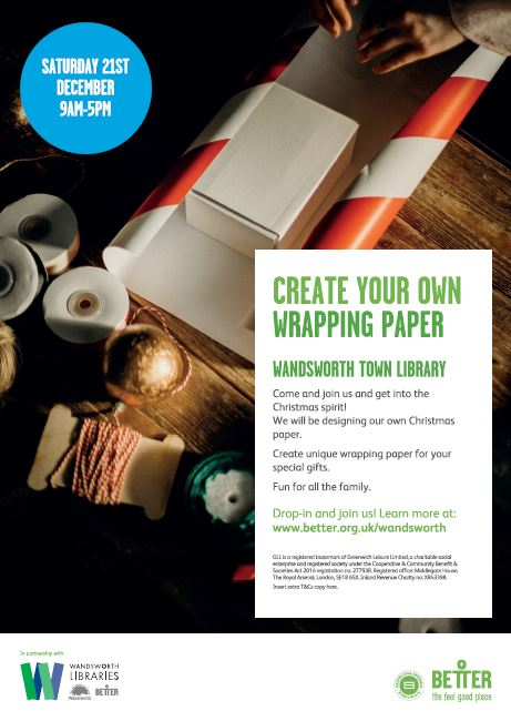 Create your own wrapping paper.