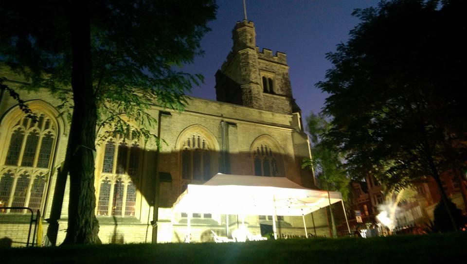 Gazebo outside church