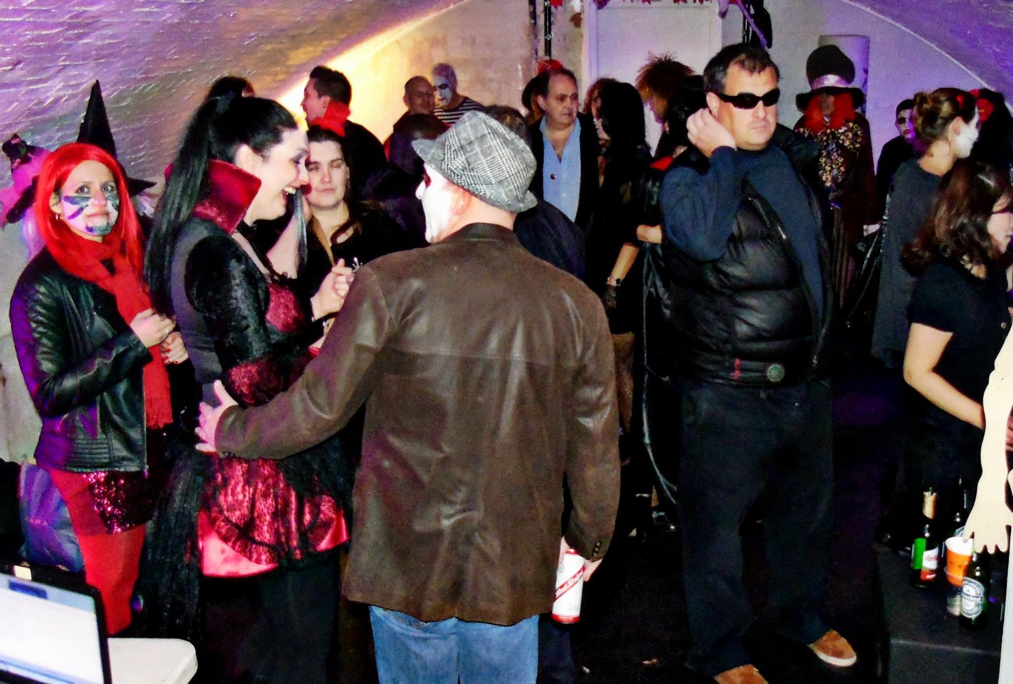 Halloween Dancing crowd