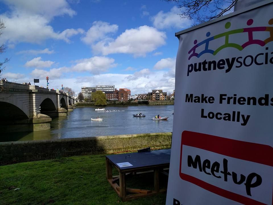Putney Social Group logo and river