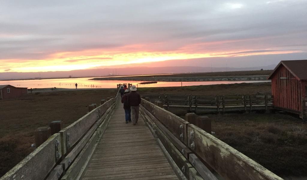 Sunset Walk  by Gene Bobik