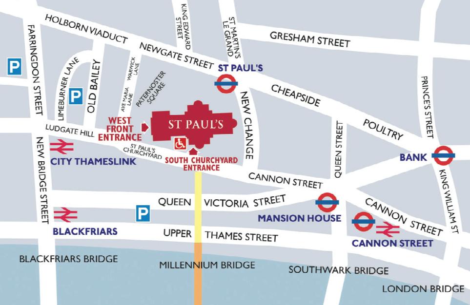St Paul's location map