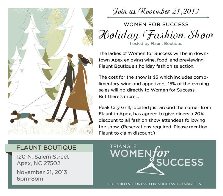 Flaunt Boutique Fashion Show Flyer