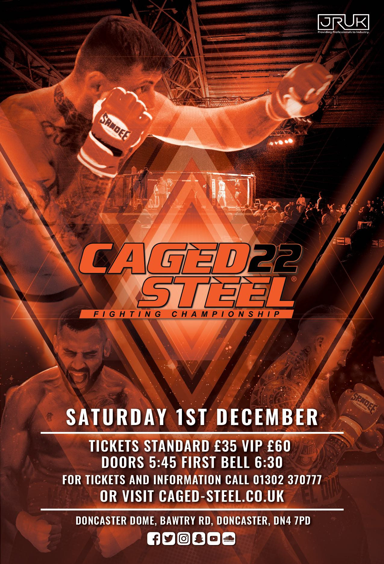 Caged Steel 22 - Doncaster - December 1st