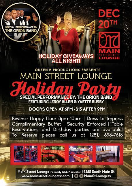 Holiday party at main street lounge
