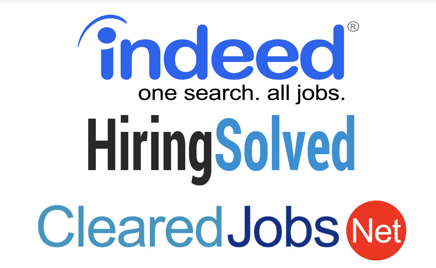 Indeed / HiringSolved / ClearedJobs.net