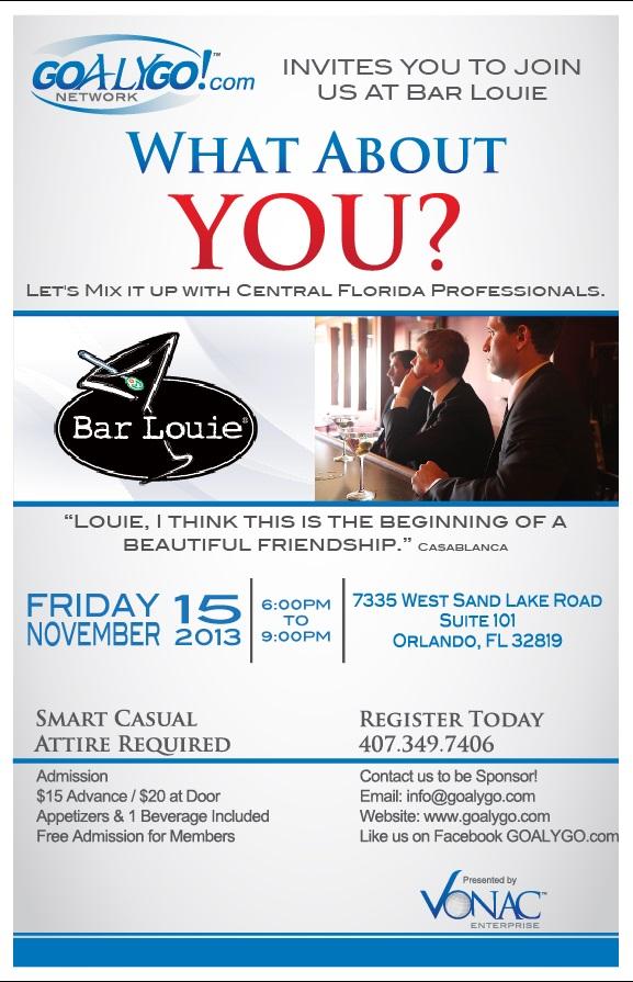 Bar Louie Business Event