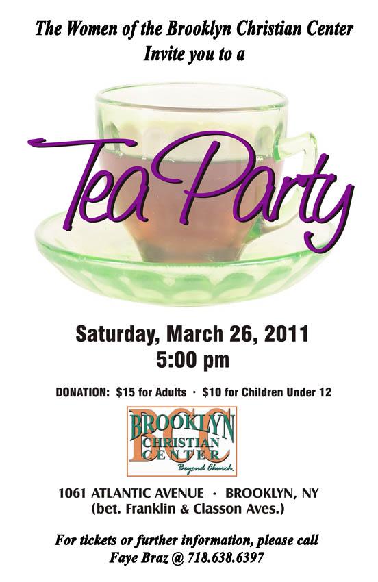 Tea Party Flyer