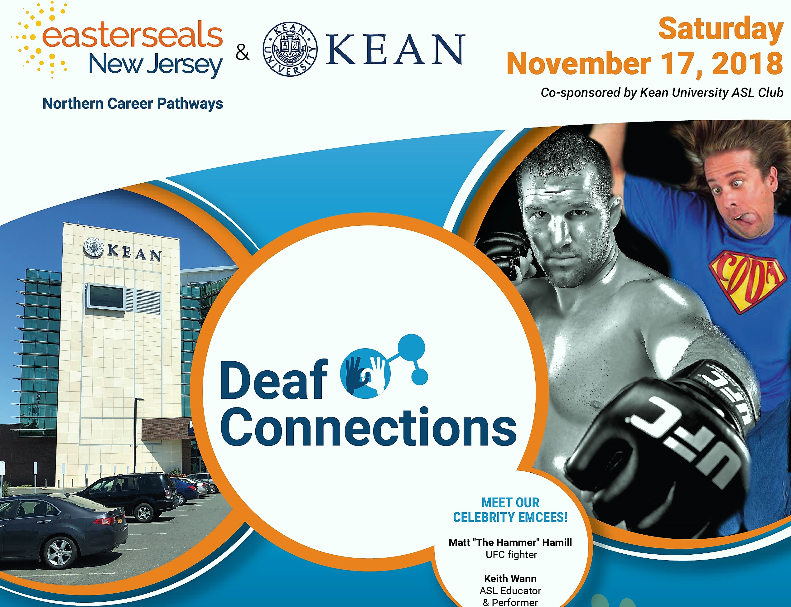 Flyer for deaf connections event