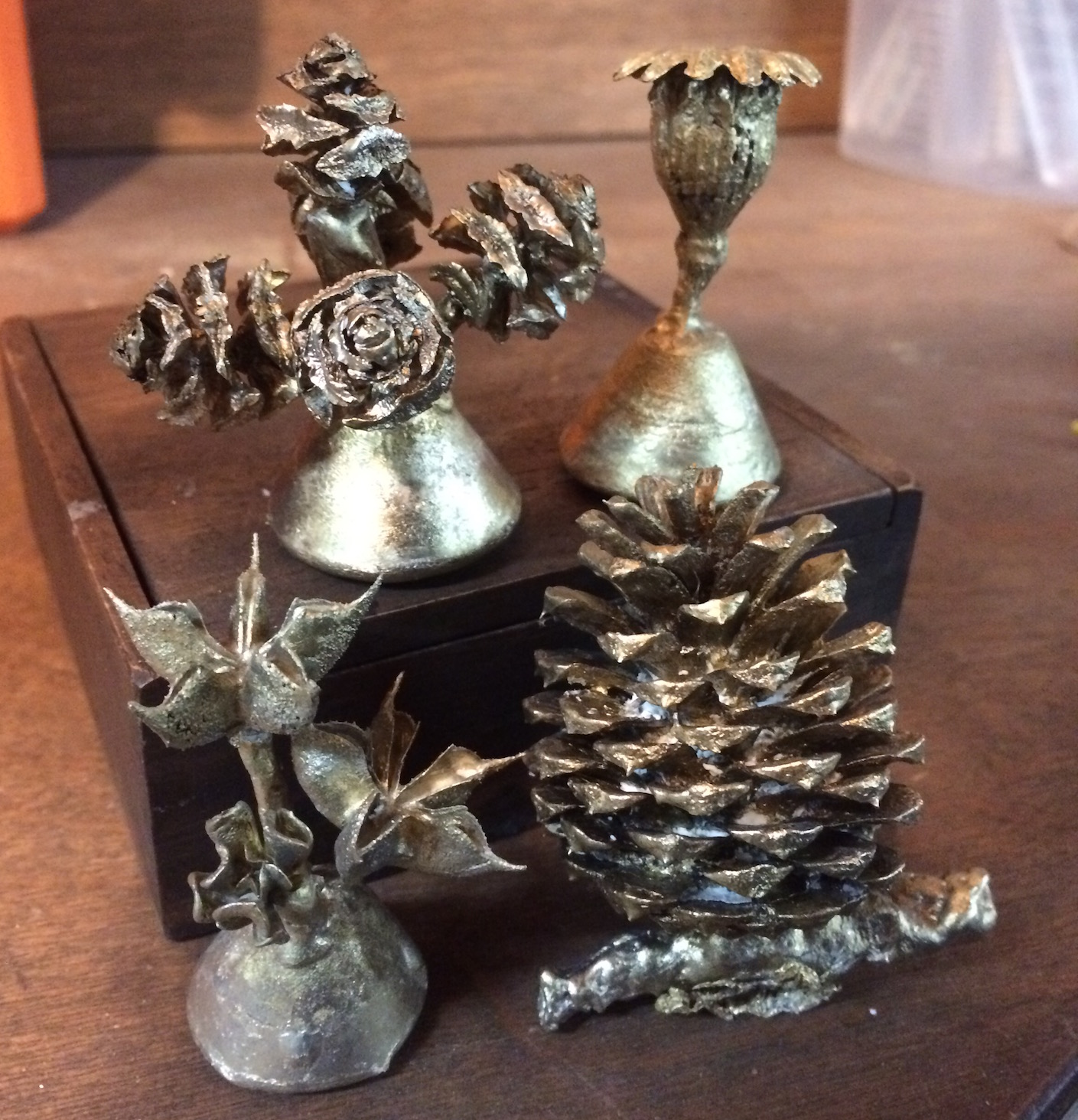 Cast organic pieces