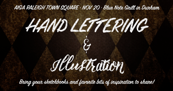 Nov 20 Lettering and Illustration Town Square at the BLUE NOTE GRILL