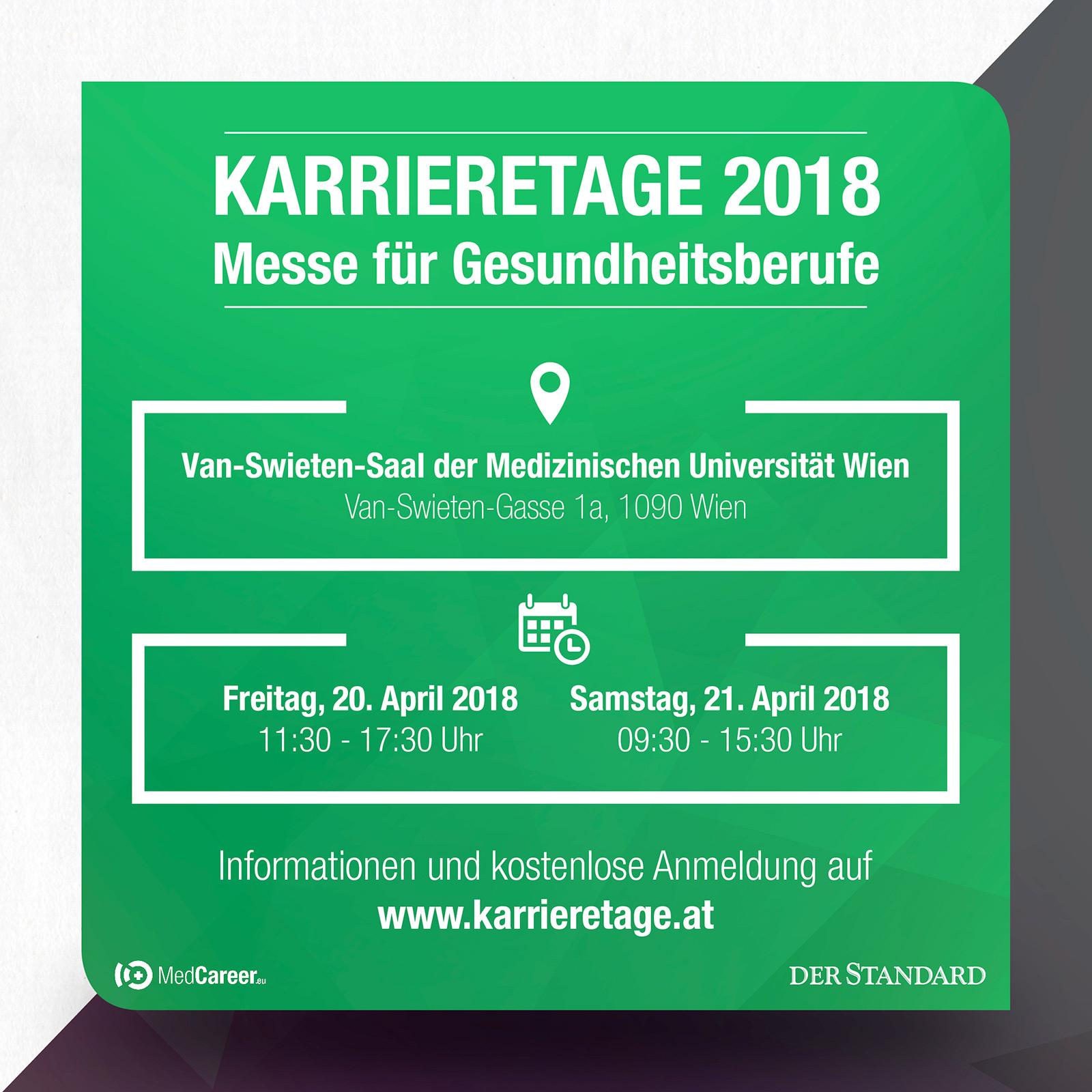 Karrieretage 2018 - Die Messe für Gesundheitsberufe in Wien