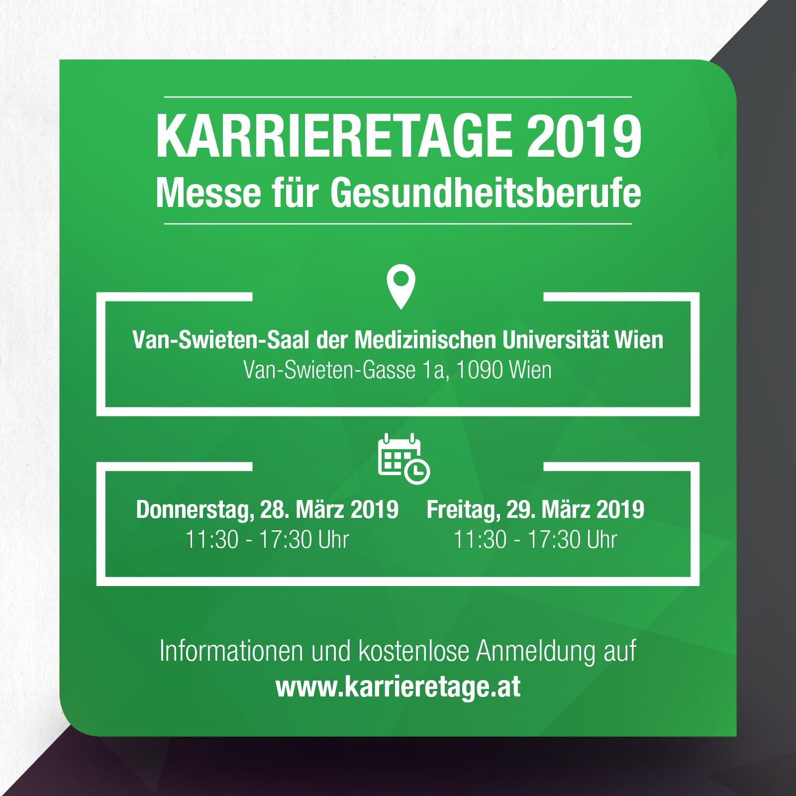 Karrieretage für Gesundheitsberufe in Wien