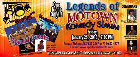 LEGENDS OF MOTOWN KOMEDY SLAMM & SINGLES DANCE (couples...