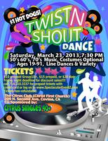 """TWIST N SHOUT"" SINGLES DANCE PARTY (couples welcome)"
