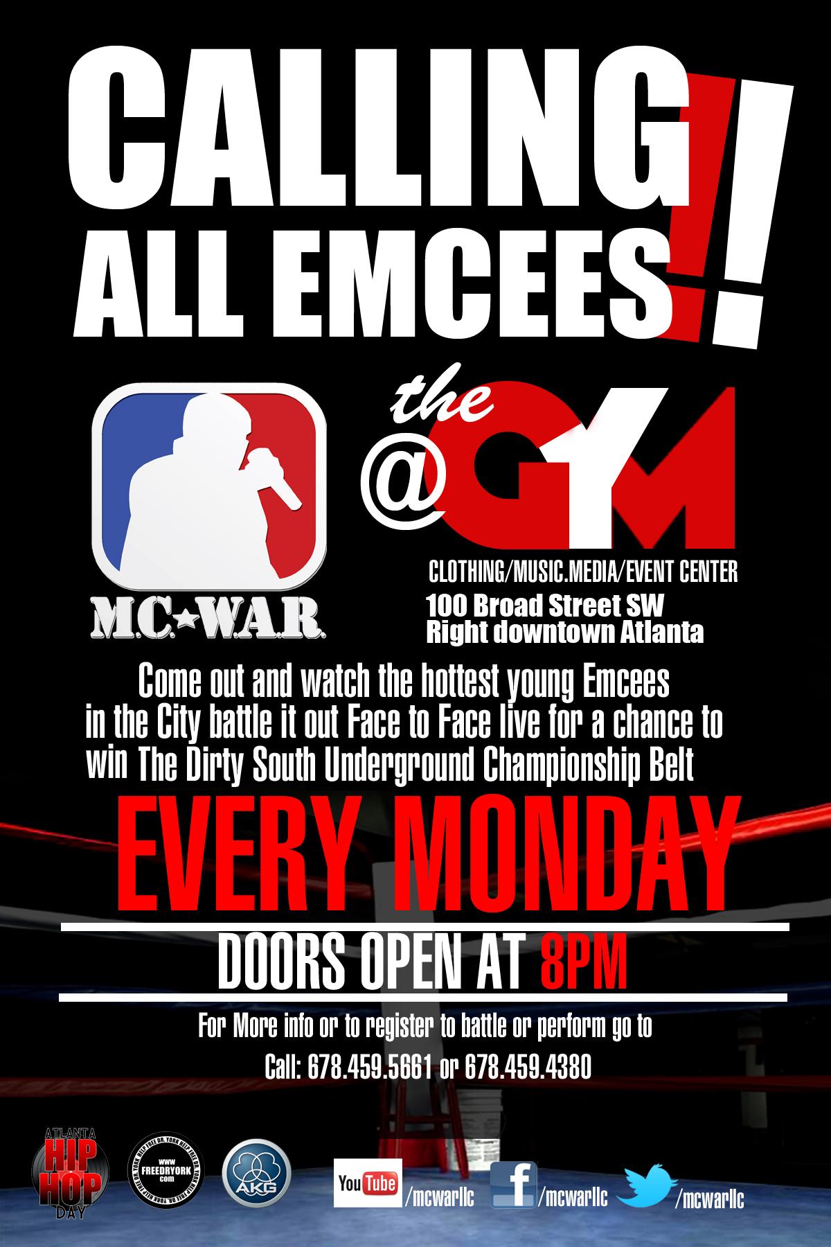 MC WAR AT THE G.Y.M.